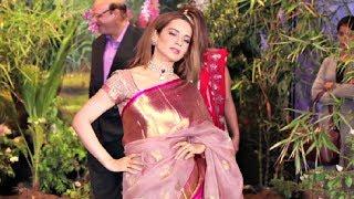 Kangana Ranaut In Saree At Sonam Kapoor Wedding Reception