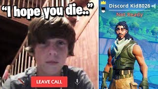 I put my DISCORD in my Fortnite Name and thirsted every kill...