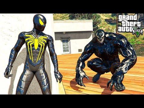 ЧЕЛОВЕК ПАУК НАШЁЛ ВЕНОМА В ГТА 5 МОДЫ! SPIDERMAN VS VENOM ОБЗОР МОДА В GTA 5 ВИДЕО MODS