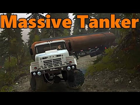 Spin Tires | Eagle's Nest, FUEL TANKER Heavy Haul! Part 1 | w/ Map Download
