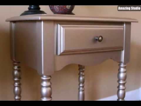 m bel streichen idee in silber youtube. Black Bedroom Furniture Sets. Home Design Ideas