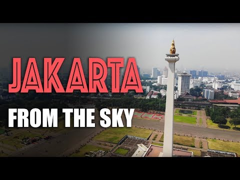 Jakarta, Indonesia: aerial views from a drone