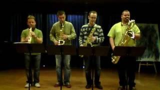 SAXOPHOBIA (Rudy Wiedoeft)  SAXFORMANCE quartet de saxos