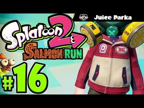 Splatoon 2 ~ Salmon Run - New Gear: Juice Parka - Nintendo Switch Gameplay Walkthrough PART 16