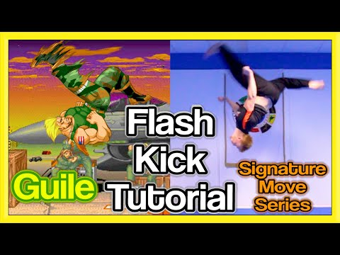 Flash Kick Tutorial (Backflip Kick) | GNT How to (Guile Signature Move)