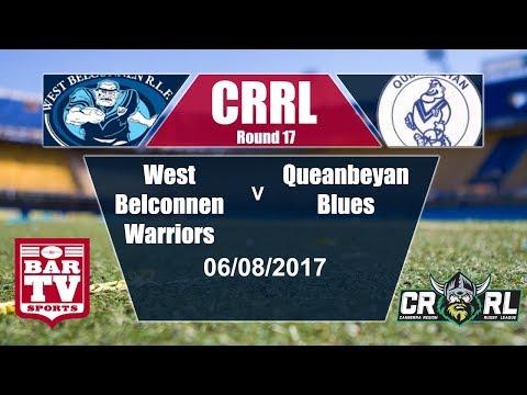 2017 Canberra RL Round 17 - West Belconnen Warriors v Queanbeyan Blues