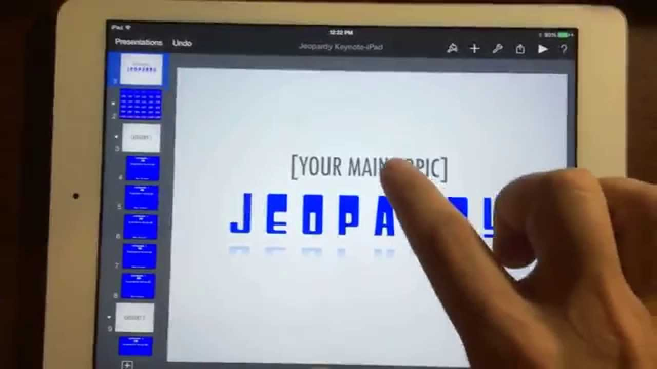 Keynote Jeopardy Template On The Ipad Youtube