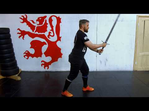 Урок 1: Полуторный меч - Стойка и перемещения. Исторический Средневековый бой - Длинный меч