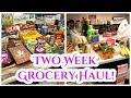TWO WEEK GROCERY HAUL + MEAL PLAN!