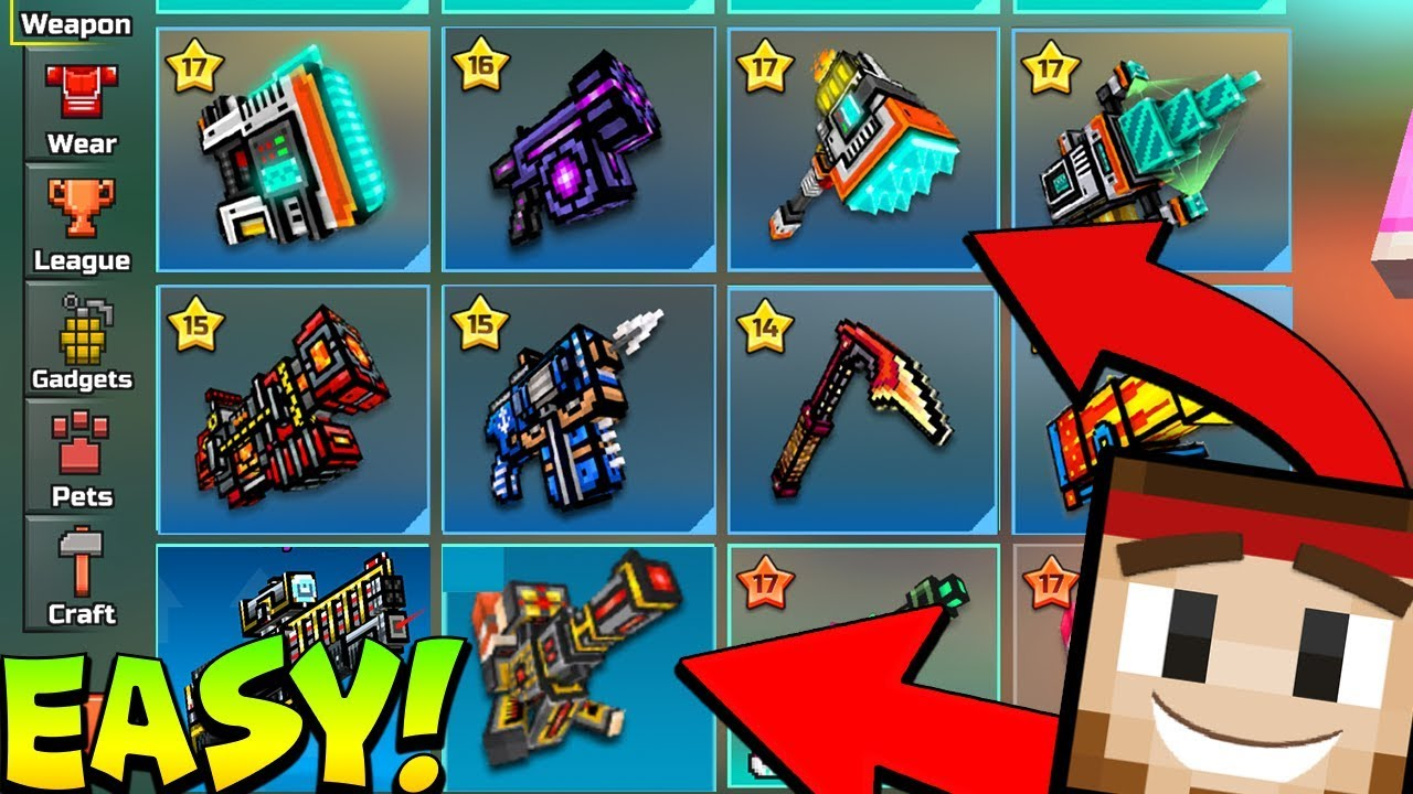 super-easy-unlock-all-14-0-2-weapons-for-free-all-clan-weapons-pets-ios-pixel-gun-3d