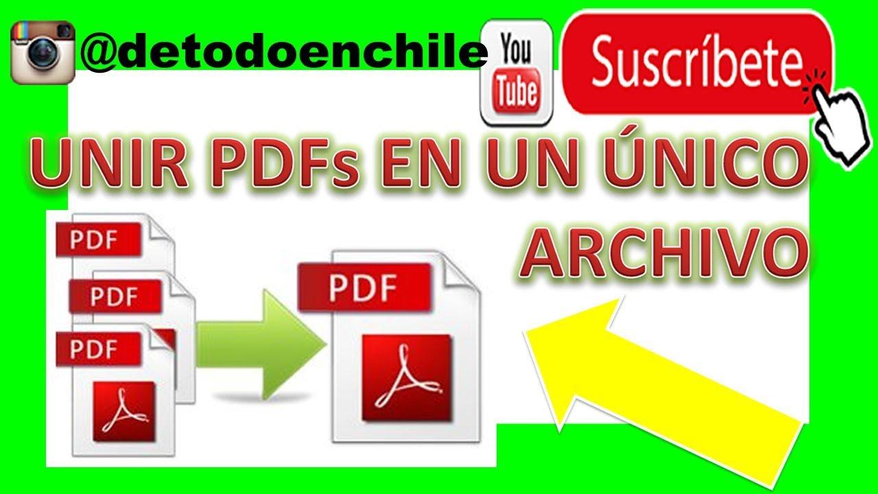 Como Unir Archivos Pdf En Uno Solo Fácil Youtube