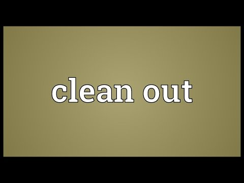 Clean out Meaning