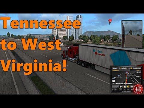 American Truck Simulator: Coast to Coast MAP MOD, Tennessee to West Virginia!