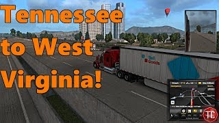 American Truck Simulator: Coast to Coast MAP MOD, Tennessee to West Virginia!