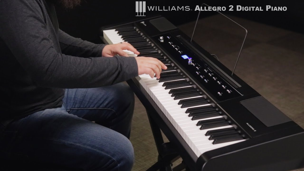 williams allegro 2 88 key hammer action digital piano youtube. Black Bedroom Furniture Sets. Home Design Ideas