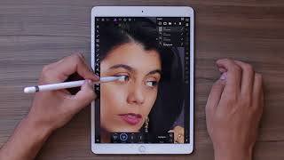 Woman In Black IPad Pro Retouch Affinity Photo