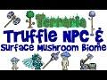 Truffle NPC House Guide, Surface Mushroom Biome, Grass Seeds, Spear and More! (Terraria 1.3 PC)