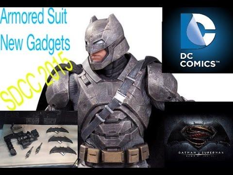 Batman V Superman New Gadgets Armored Batsuit In Detail SDCC 2015
