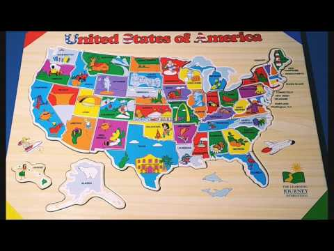 Kids Do and Learn USA States and capitals Puzzle - IMPROVES ATTENTION & FOCUS