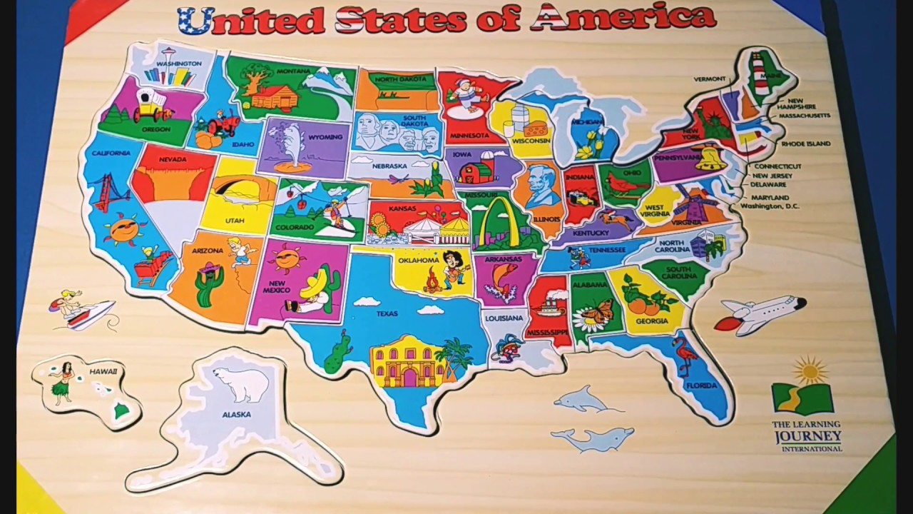 Kids Do and Learn USA States and capitals Puzzle - IMPROVES ...