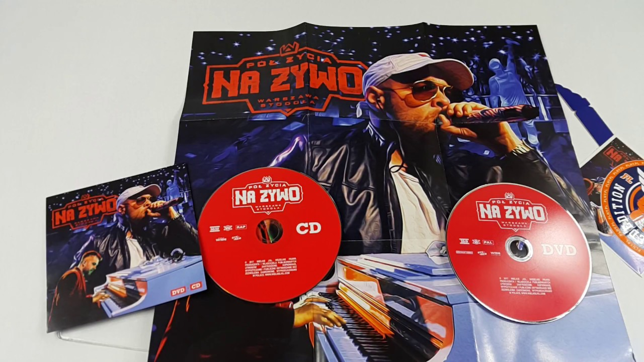 "Unboxing: TEDE x SIR MICH x BAND ""PÓŁ ŻYCIA NA ŻYWO"" DVD + CD"