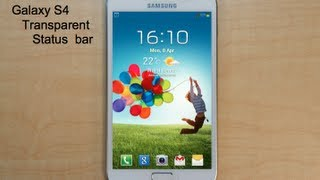 Make Galaxy Note look like the Galaxy S4 - Transparent status bar (Rooted device only!)