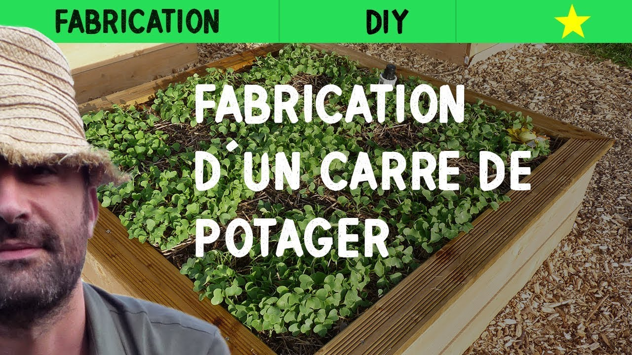 Fabrication d 39 un carr de potager youtube for Idee palette de bois