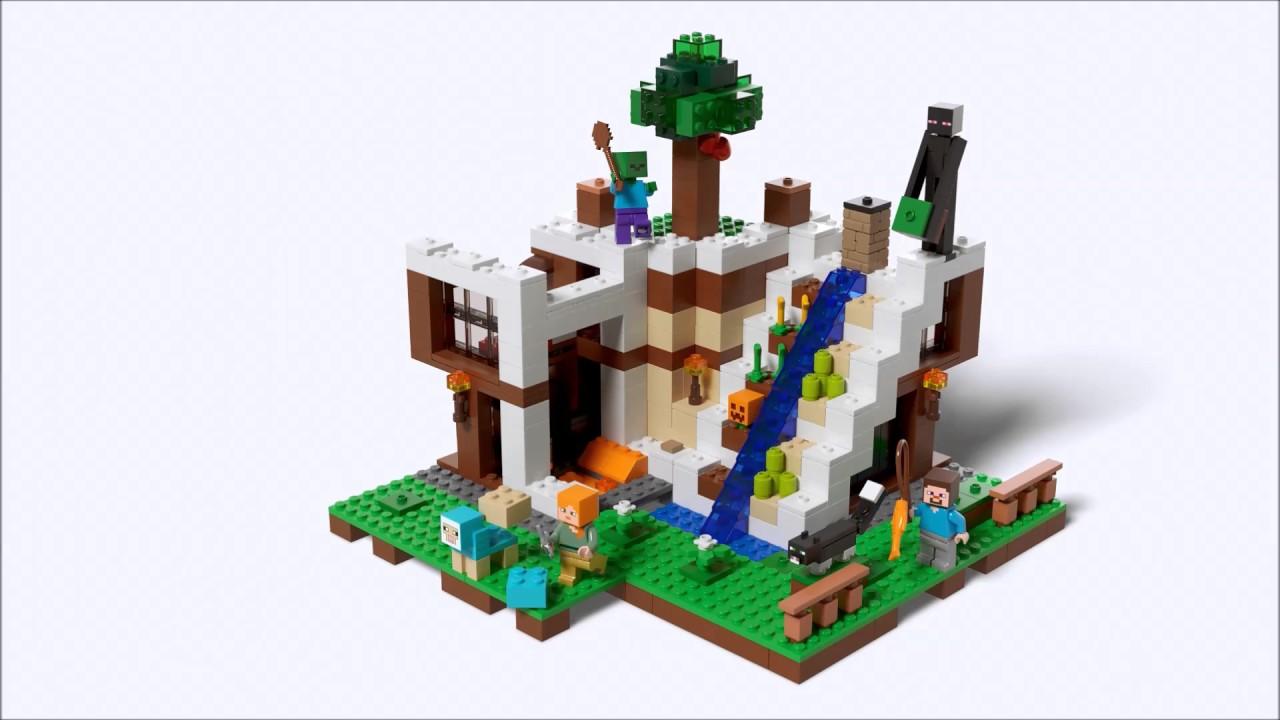 Smyths Toys - LEGO Minecraft The Waterfall Base 21134 ...