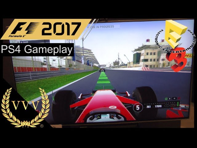 F1 2017 PS4 Gameplay - 2007 Ferrari at Bahrain Short Circuit