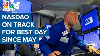 Nasdaq on track for best day since May 2021