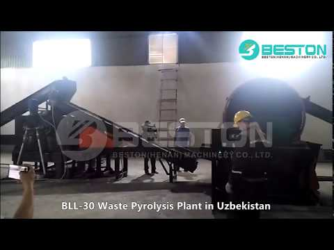 30-ton Continuous Waste Tyre / Plastic Pyrolysis Plant in Uz