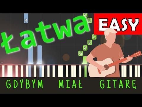 🎹 Gdybym miał gitarę - Piano Tutorial (łatwa wersja) 🎹
