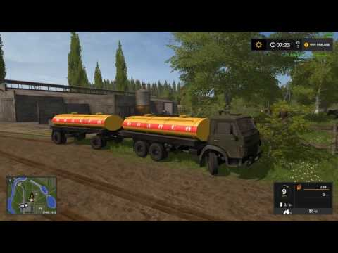 Farming Simulator 2017 Тест мода  КамАЗ молоковоз на обычной карте
