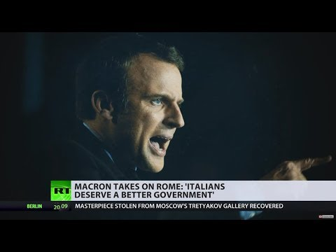 Oh, the irony: Macron suggests 'Italians deserve a better government'