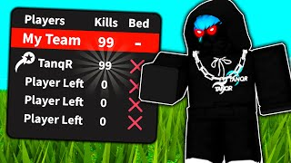 My entire team left, So I won the game.. (Roblox Bed Wars)