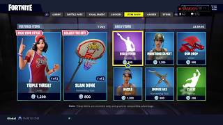 NEW Triple threat basketball SKIN | FORTNITE ITEM SHOP UPDATE | 5/31/2018