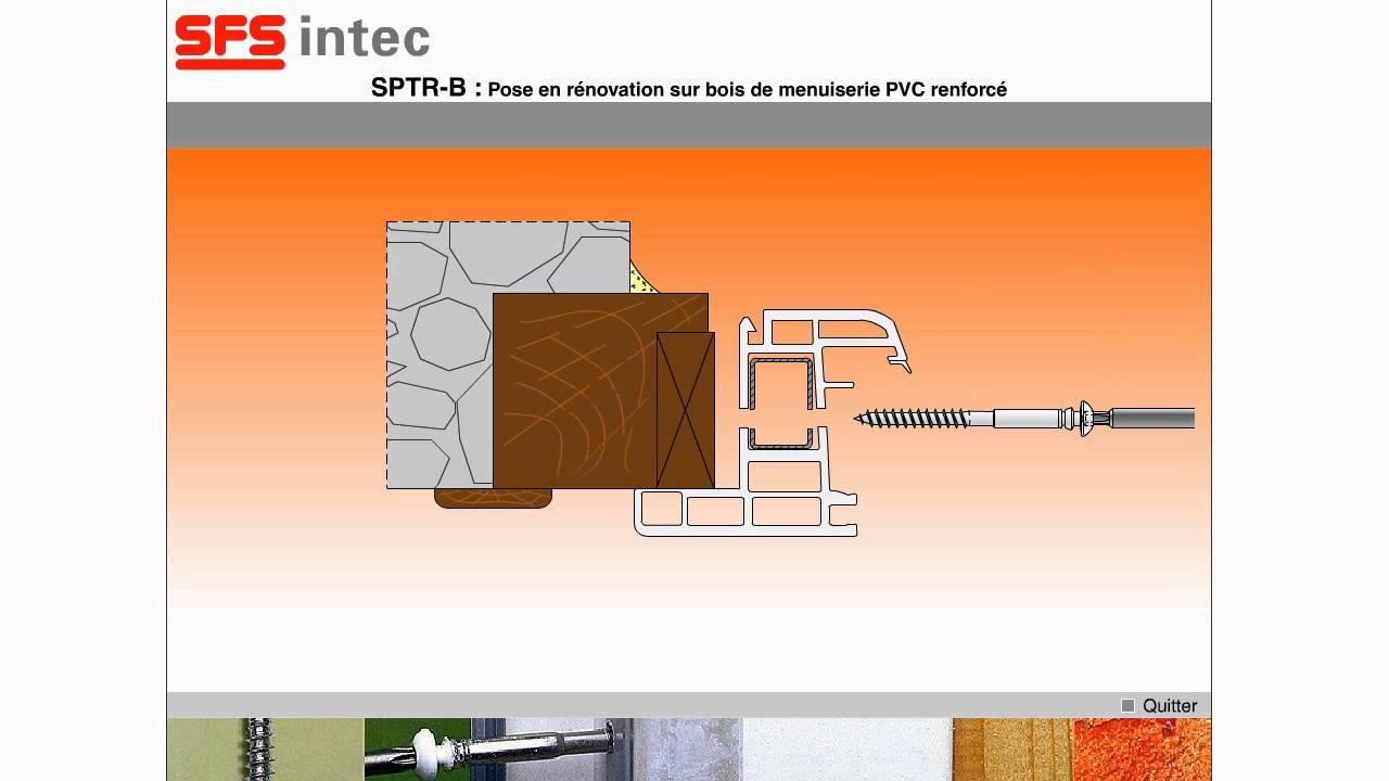 syst me r glable sptr b pour la pose de menuiserie pvc renforc sur cadre bois youtube. Black Bedroom Furniture Sets. Home Design Ideas