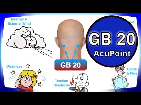 Acupuncture point GB 20