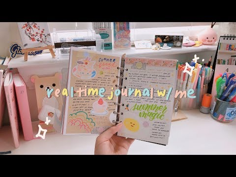 real-time-asmr?-journal-with-me-#5-✏️