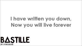 bastille - poet (lyrics)