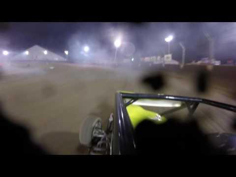 Schyler Brown TQ midget Kokomo Speedway semi win