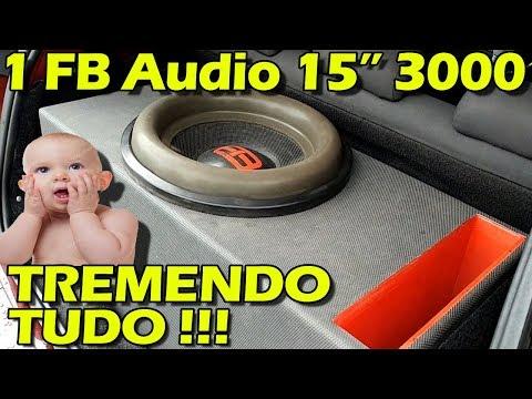 """1 FB Audio 15"""" 3000 (com Bobina Reforçada) Tremendo O Punto - Subgrave Forte"""