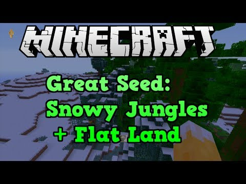 Minecraft Console: BEST SEED 3 Blacksmith Chests, Snowy Jungles And Flat Land