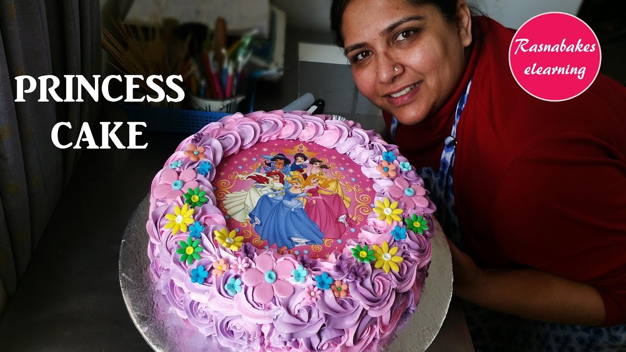 How To Make Princess Photo Cake Design For Girlshappy Birthday Ideas Picsdecorating Tips