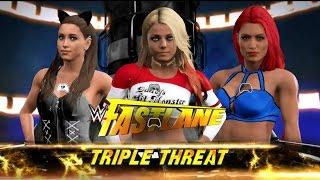 WWE Rivalry Part 4 - Fastlane: Triple Threat Ariana Grande vs Alexa vs Eva Marie