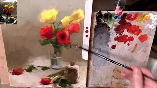 #4 Episode  Roses in a glass cup by Gianluca Rotelli.What does it mean to be realistic painters?