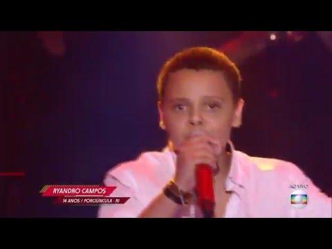 Ryandro Campos canta 'Caça e caçador' no The Voice Kids - Semifinal | Temporada 1