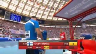 Tero Pitkämäki 87.17m Yleisurheilun MM kisat 2013