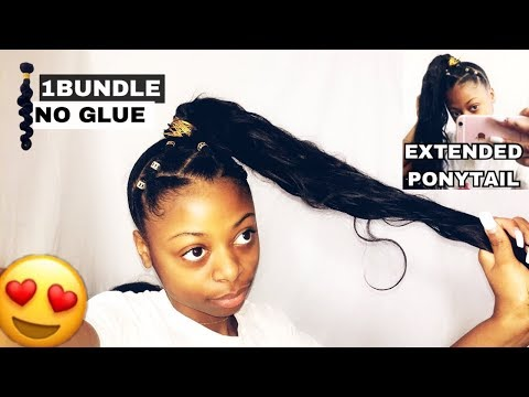 Long High Extended Ponytail Hairstyle