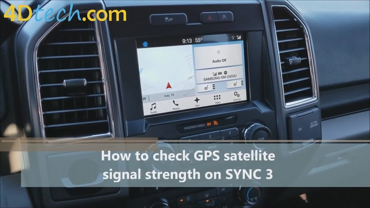 Ford Sync 3 How To Check Satellite Signal Strength Youtube